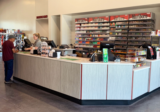 custom and modern point of sale counter