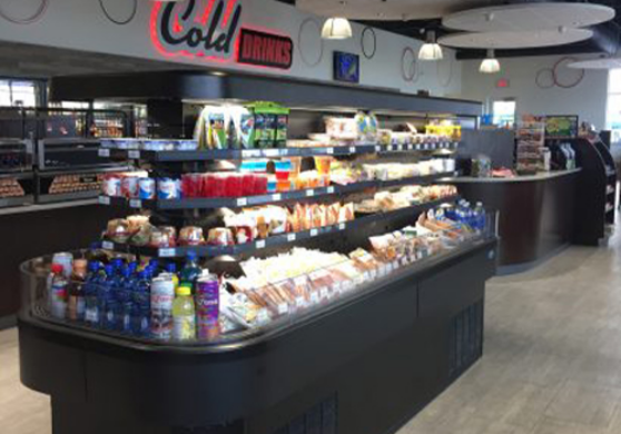 Convenience store custom cooler for food display by C-Plus